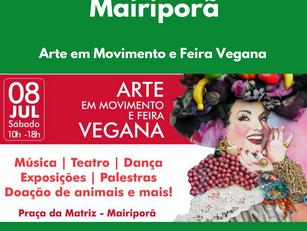 Mairiporã: Arte em Movimento e Feira Vegana