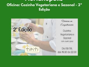 Florianópolis | Oficina: Cozinha Vegetariana e Sazonal - 2ª Edição