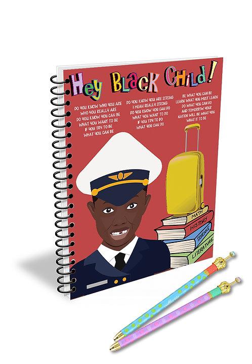 Hey Black Child! Male Flight Attendant