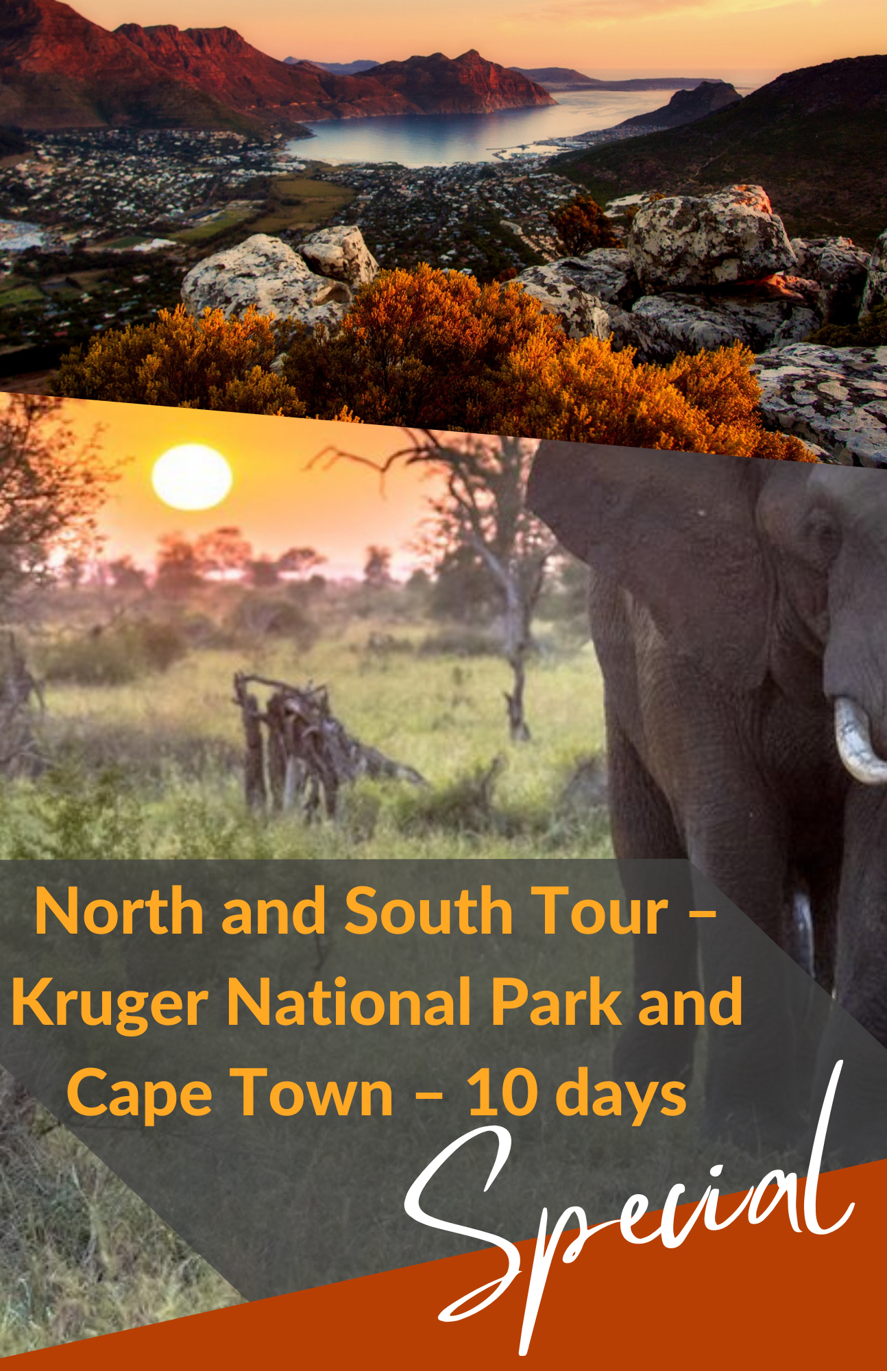 North and South Tour – Kruger & Cape