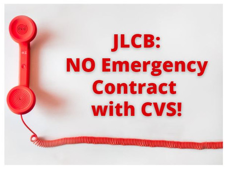 """Say """"No"""" to Emergency CVS Contract"""