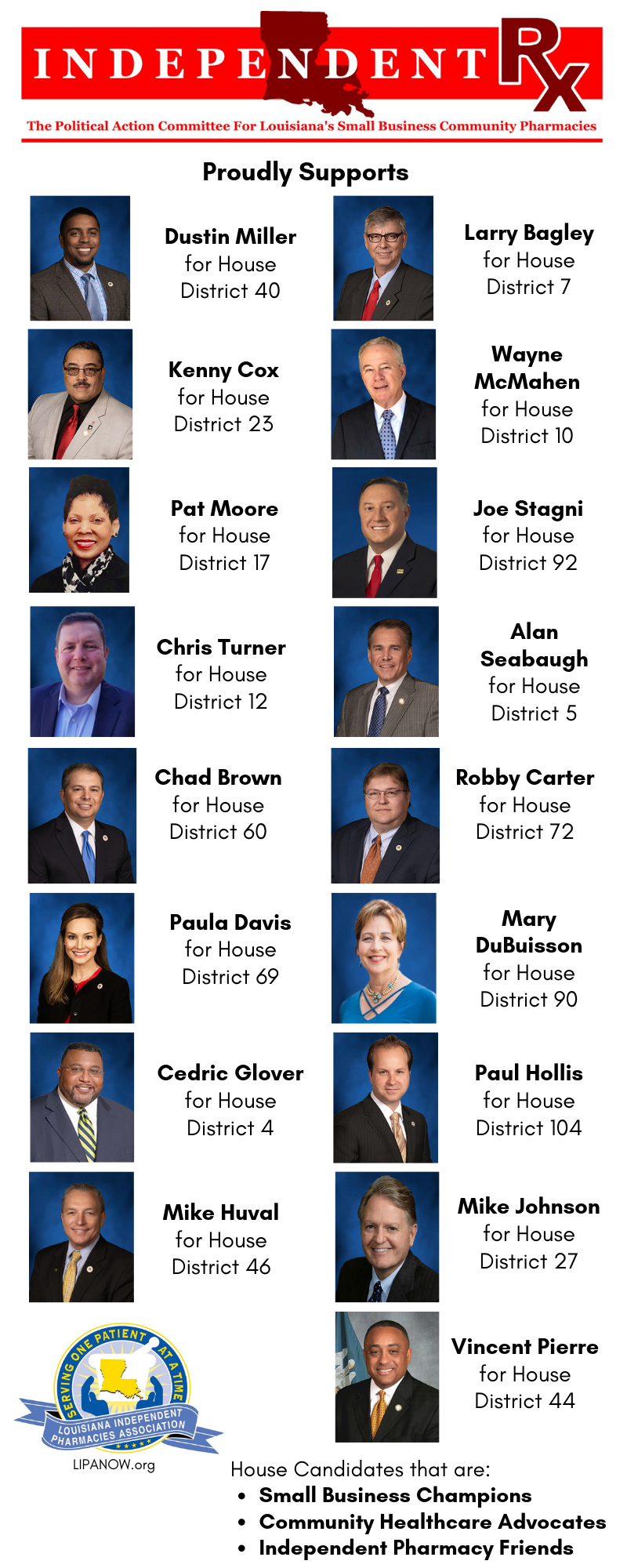 2019 LA House of Rep Candidates LIPA sup