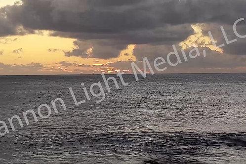 Cloudy Hawaiian Sunset