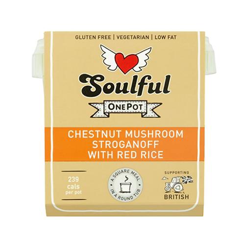 Chestnut Mushroom Stroganoff with Red Rice