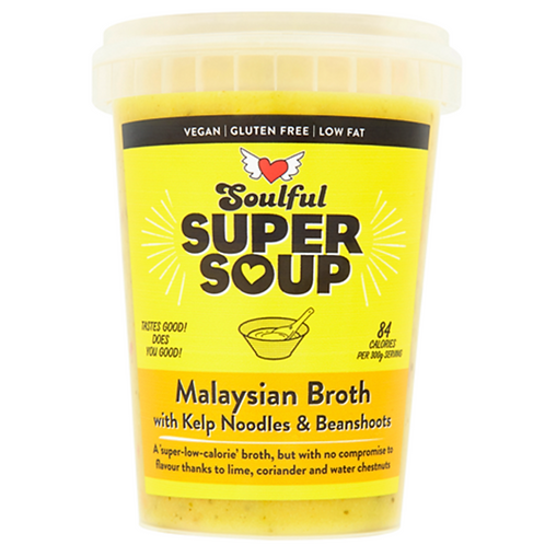Malaysian Broth with Kelp Noodles & Bean-shoots