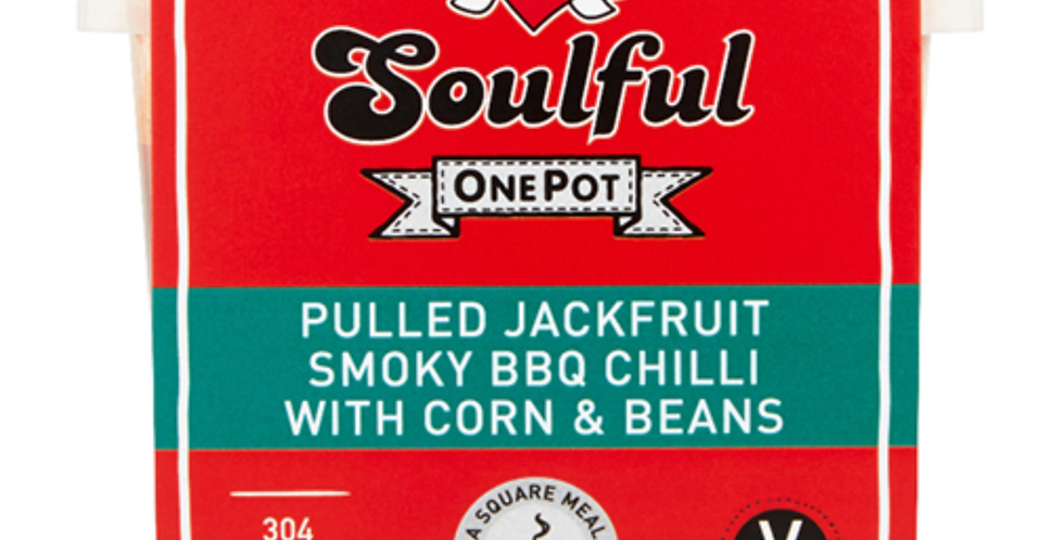 Pulled Jackfruit Smoky BBQ Chilli with Corn & Beans