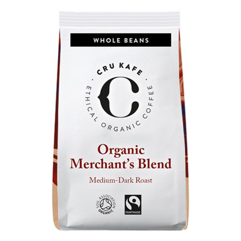 Organic CRU Kafe - Merchants Blend Coffee Beans 250g