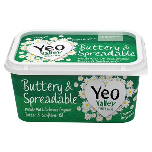 Yeo Spreadable Butter 500g