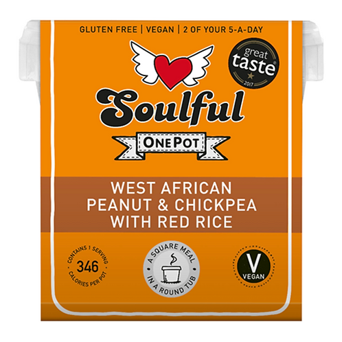 West African Peanut & Chickpea with Red Rice
