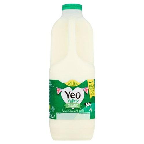Organic Semi-Skimmed Milk 2ltr