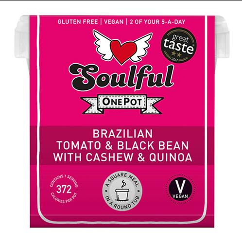 Brazilian Tomato & Black Bean with Cashew & Quinoa