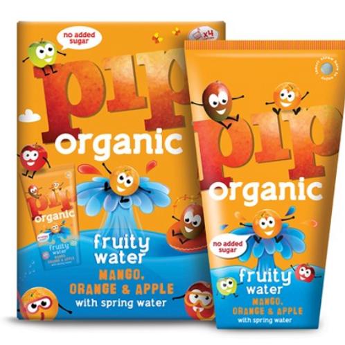 Pip Organic - Kids Mango & Orange Fruity Water 4 x 200ml