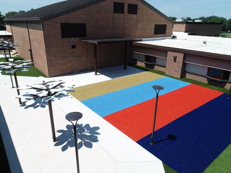 JR Watson Elementary School Courtyard