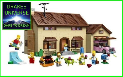 The Simpsons House Model Kit 2575 Pieces