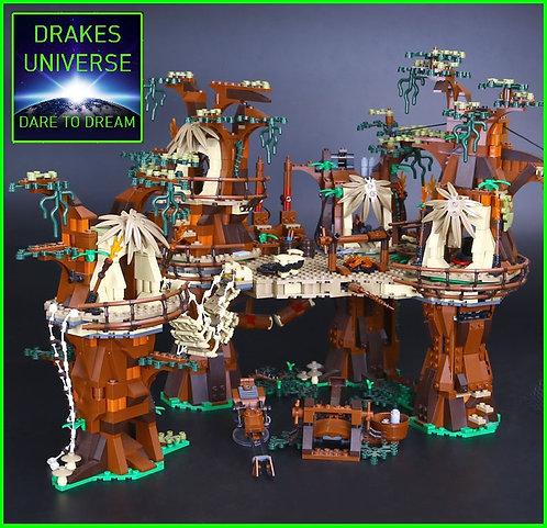 Star Wars Endor Ewok Village Model Kit 1990 Pieces