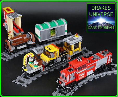 City Series Red Cargo Train Set 898 Pieces