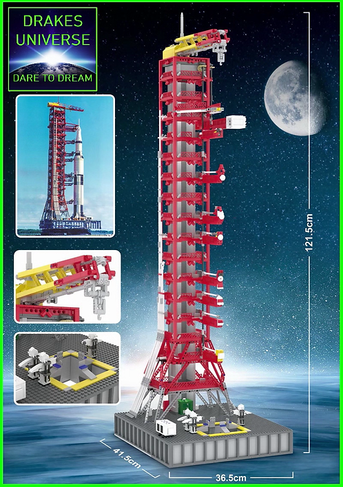 The Apollo Saturn V Launch Tower Model Set 3561 Pieces