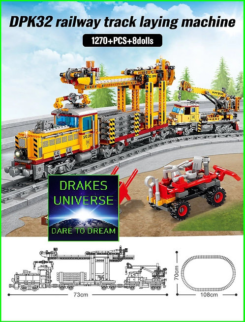 City Series Railway Track Laying Machine 1270 Pieces