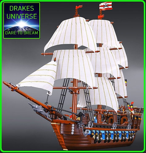 Pirate Series Imperial Flagship Model Kit 1717 Pieces