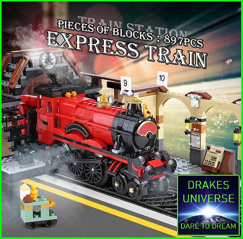 Harry Potter Hogwarts Express Model Kit 897 Pieces