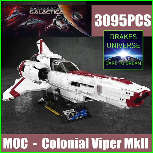 Battlestar Galactica MkII Colonial Viper Model Kit 3095 Pieces
