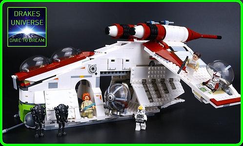 Star Wars Republic Gunship Model Kit 1175 Pieces
