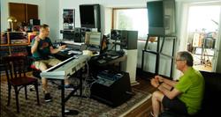 Filippo and DG in Control room, Tic Stud