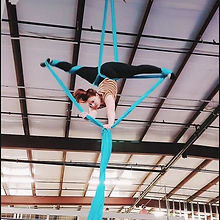 Crissy of Capitol Silks on the Aerial Silks