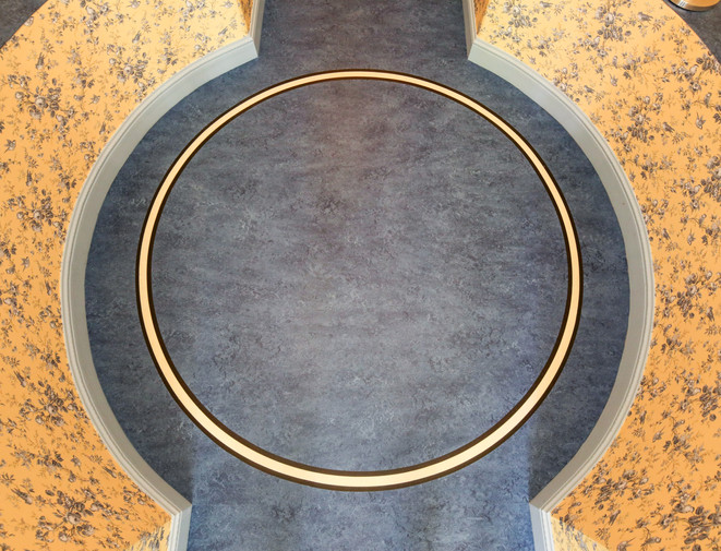 Kreisförmiger Linoelum
