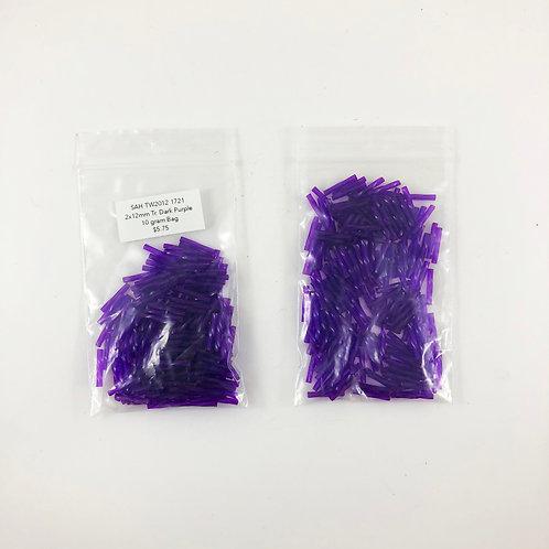 Twisted Bugle Miyuki Dyed Transparent Purple 2mm x 12mm SAH_TW2012_1721