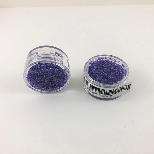 Miyuki Delica 11/0 Purple Sparkle Crystal Lined  JB 690DB00-0906s10