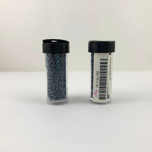 TOHO 11/0 Metallic Hematite SM_TR11_81