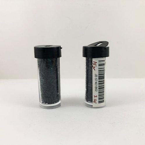 Czech Glass Bugle Beads #2 (4.7mm) Opaque Black JB_67401862