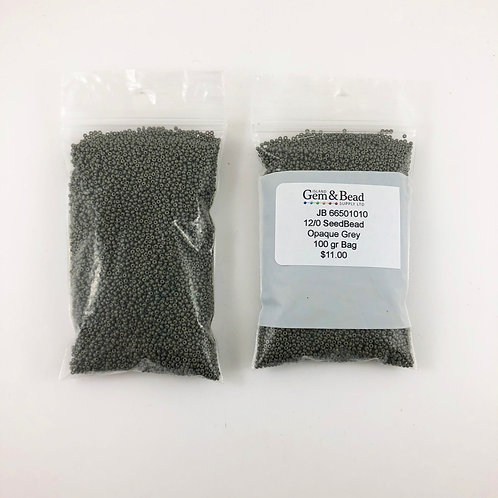 12/0 Czech Glass Opaque Grey  JB_66501010