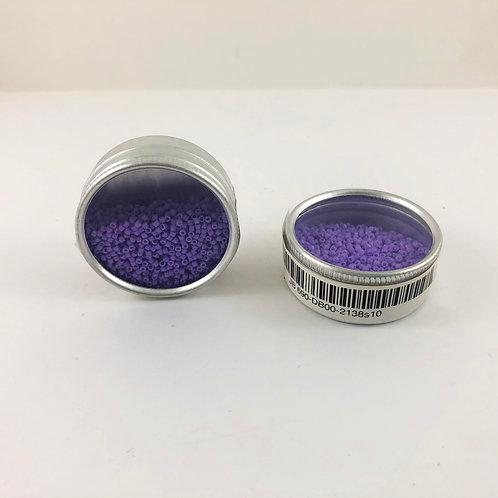 Miyuki Delica 11/0  Duracoat Opaque Dyed Light Purple JB 690DB00-2138s10