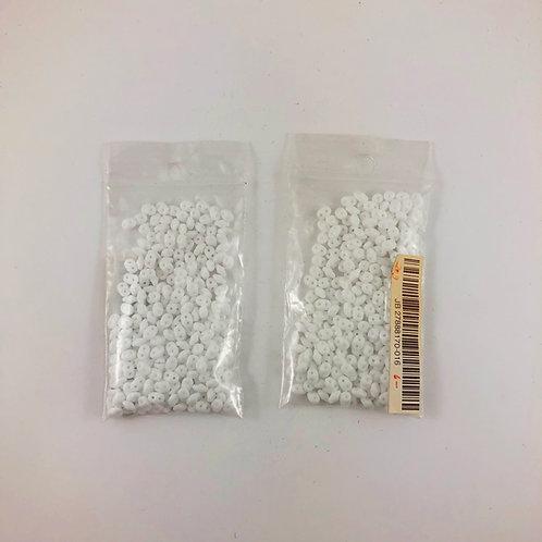 Czech Glass Super Duo White JB_27888170-016
