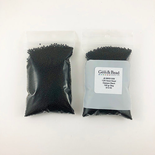 12/0 Czech Glass Opaque Black  JB_66501009