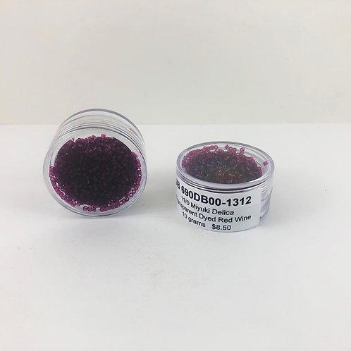 Miyuki Delica 11/0Transparent dyed Red Wine JB 690DB00-1312