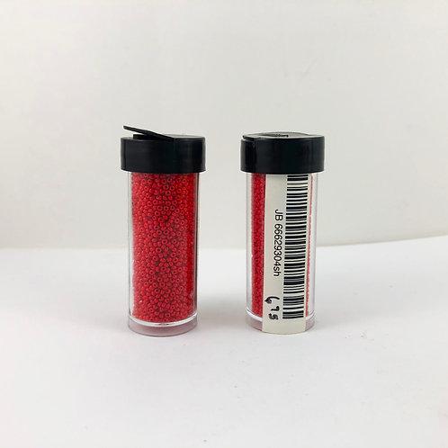 Czech Gass 13/0 Charlottes  Opaque  Medium Red JB_66629304sh