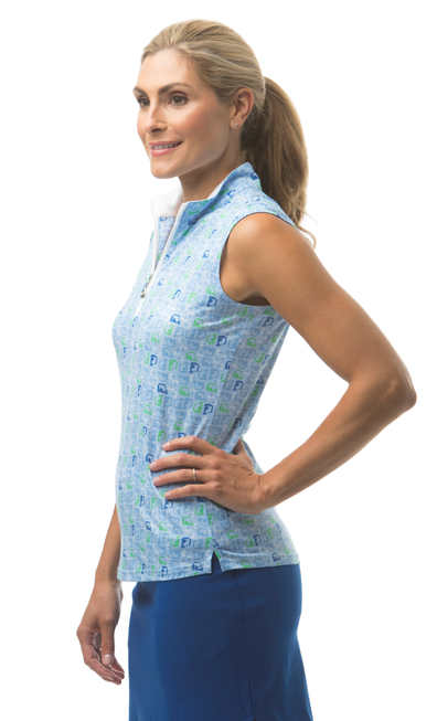 900471 SanSoleil SolCool Sleeveless Mock