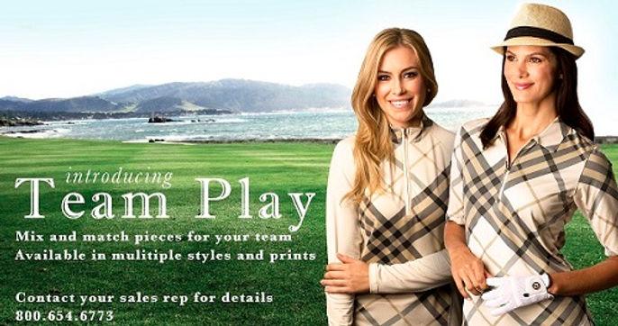 UPF 50 long sleeve team uniforms for  Women's Golf - Tennis