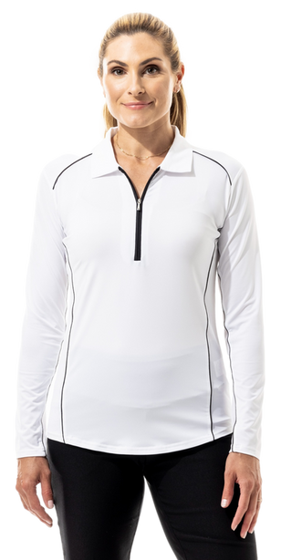 900433 SanSoleil SunGlow Long Sleeve Polo. White  (2)_clipped_rev_1.png