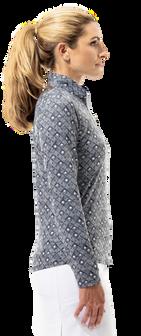 900463 SanSoleil SolCool Womens Long Sleeve Print Mock. Sunshine - Black (4)_clipped_rev_1