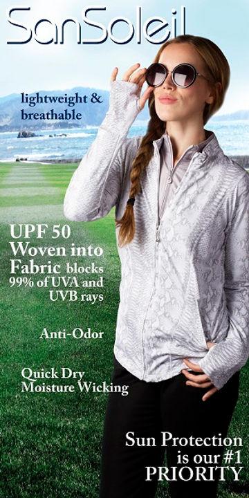 UPF 50 - UV 50 Women's Golf - Tennis Clothing