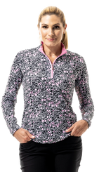 900463 SanSoleil SolCool Womens Long Sleeve Print Mock. Bengal - Pink (6)_clipped_rev_1.pn