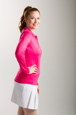 900433-SunGlow-Long-Sleeve-POLO-HOT-PINK
