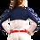 Thumbnail: 900436 SunGlow Back Vent Zip Mock. White/Navy
