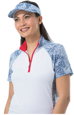 900477 SolCool Short Sleeve Mock. Gabby.