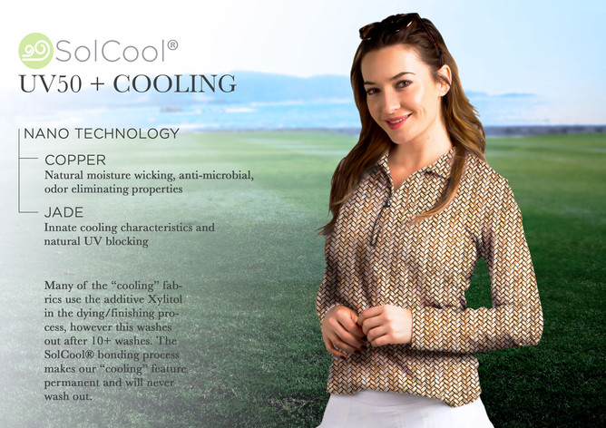 """SolCool®"" SanSoleil's Nano Technology Cooling Fabric"