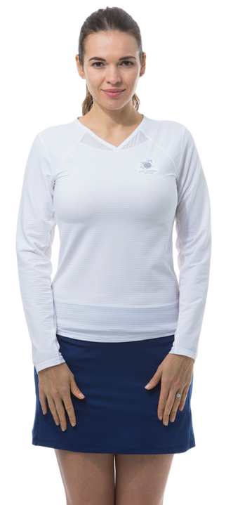 900429S SunGlow Active Tennis Tee. White